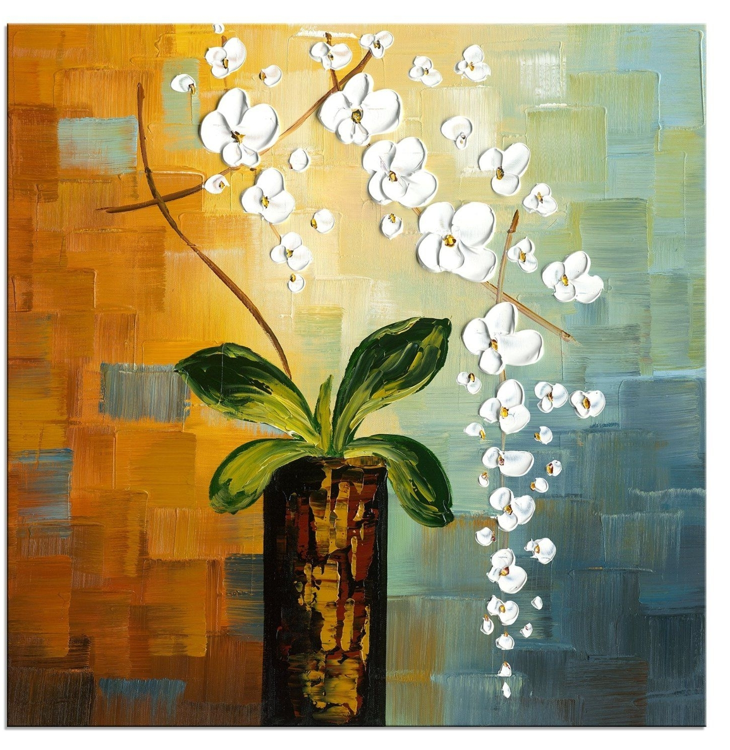 Top 15 Of Abstract Floral Canvas Wall Art