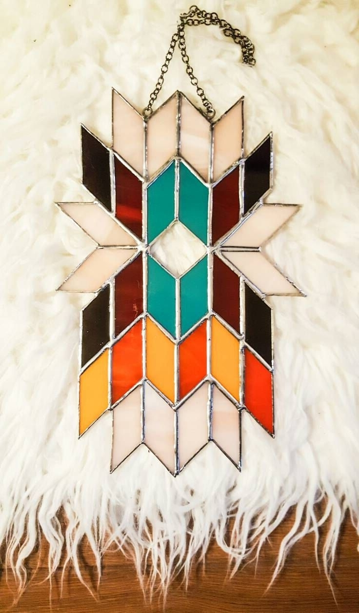 Best And Newest Abstract Fused Glass Wall Art Inside Geometric Wall Art, Abstract Art, Stained Glass Panel, Tiffany (View 12 of 15)