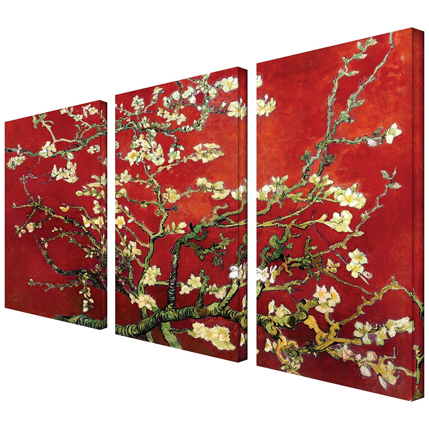 Best And Newest Almond Blossoms Vincent Van Gogh Wall Art In Amazon: Art Wall 3 Piece Almond Blossom Gallery Wrapped Canvas (View 10 of 15)
