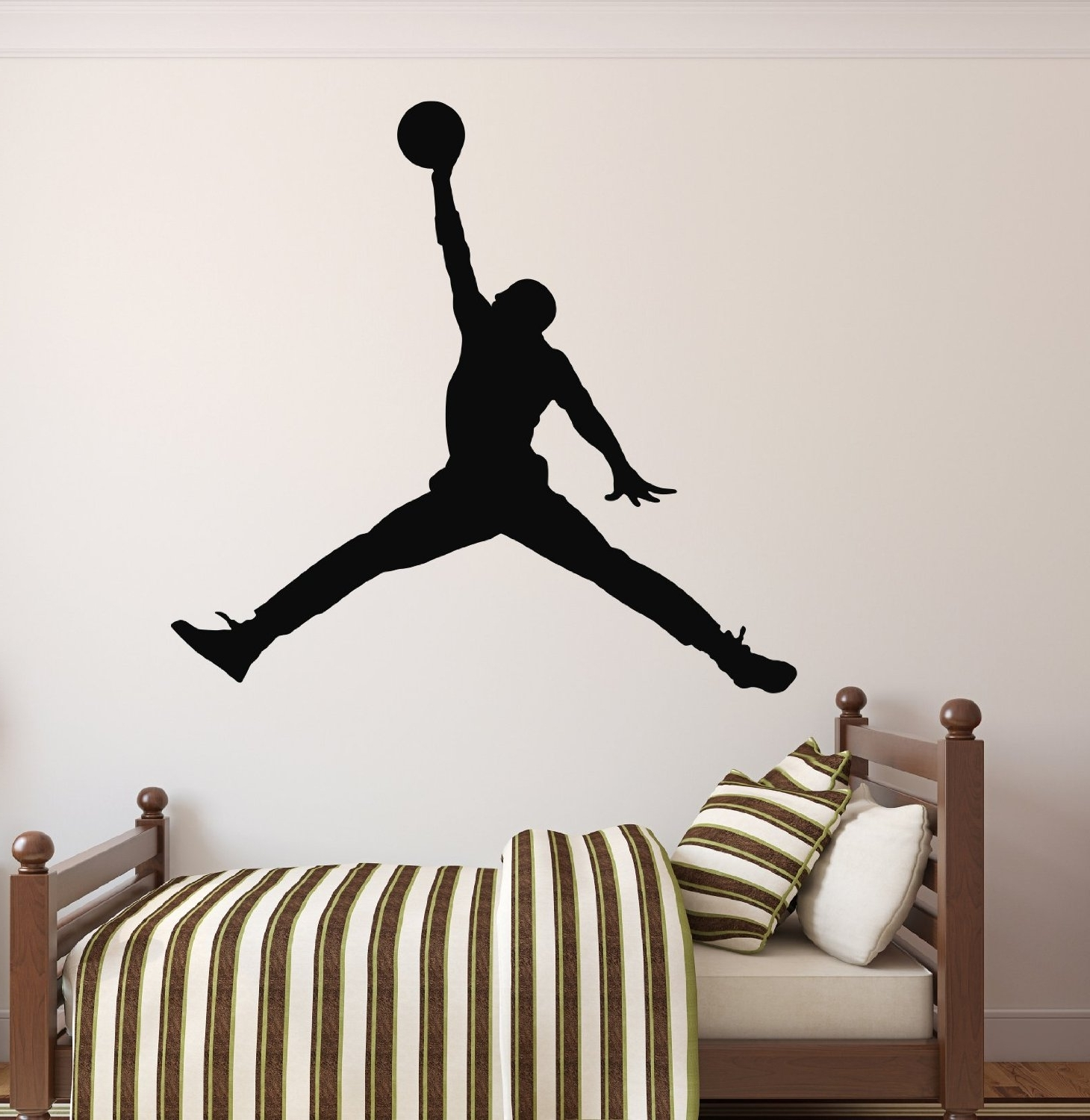 Best And Newest Amazon – Michael Jordan Wall Decal – Basketball Wall Decor Inside Nba Wall Murals (View 2 of 15)