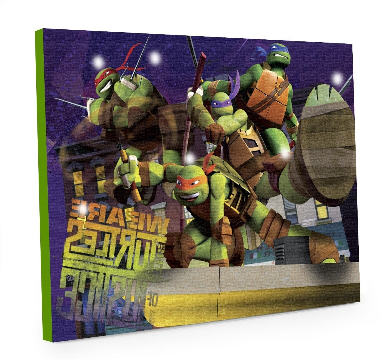 Best And Newest Amazon: Nickelodeon Teenage Mutant Ninja Turtles Led Canvas Inside Tmnt Wall Art (View 2 of 15)