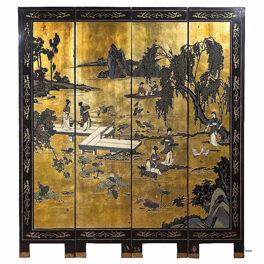 Best And Newest Asian Wall Art Panels Inside Asian Wall Art Panels Lovely Chinese 19Th Century Black Lacquer (View 4 of 15)