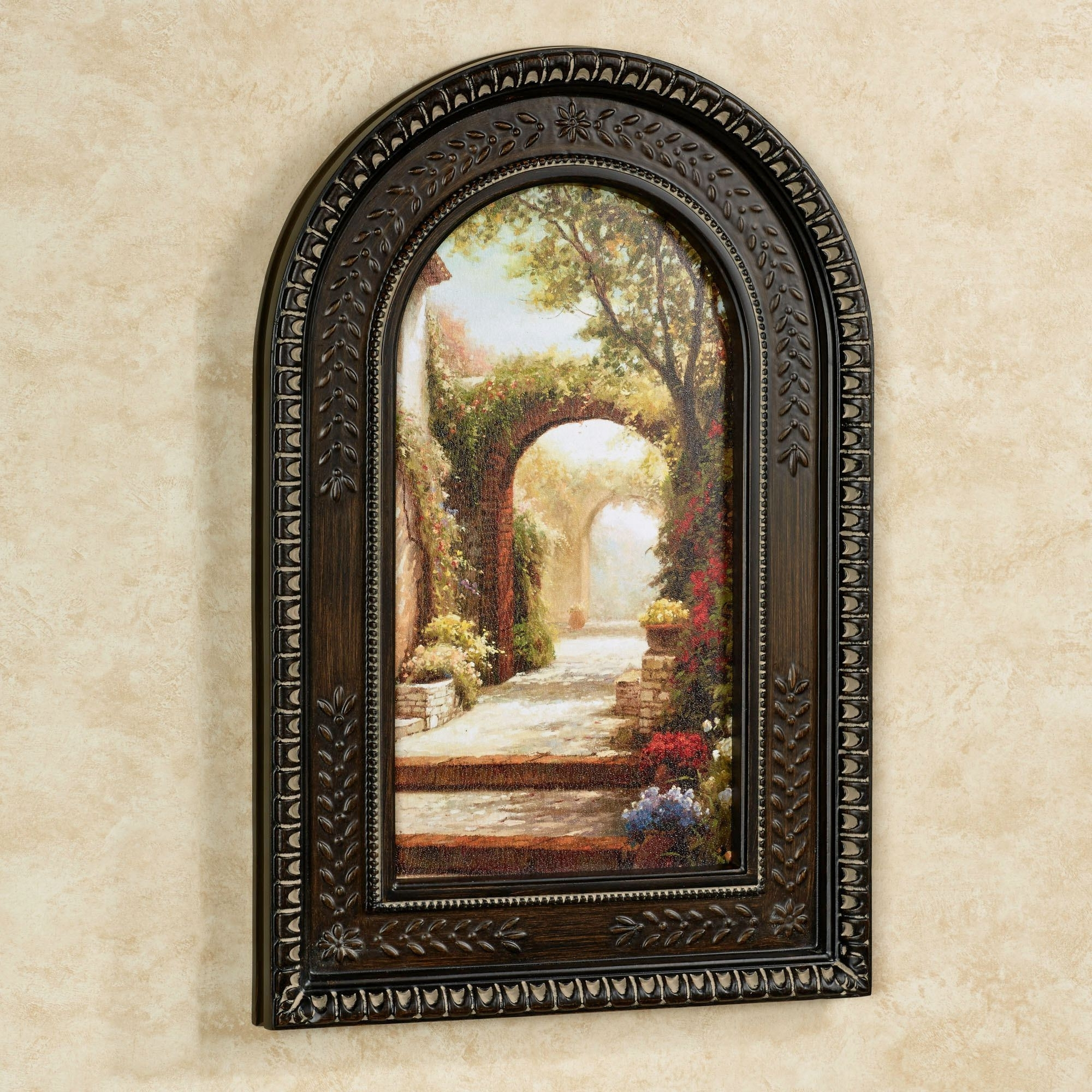 Best And Newest Brown Framed Wall Art With Pomeriggio Arched Framed Wall Art (View 1 of 15)