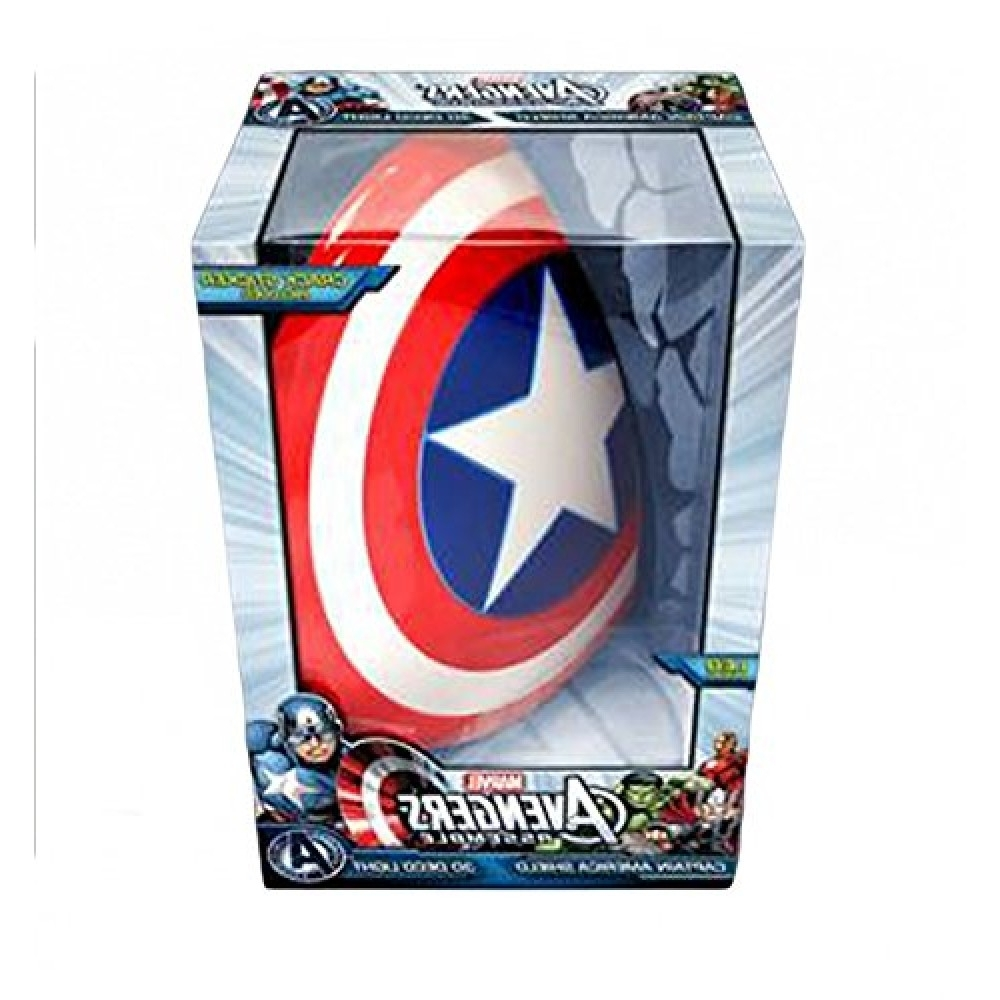 Best And Newest Captain America Shield 3D Wall Lightphilips (View 7 of 15)