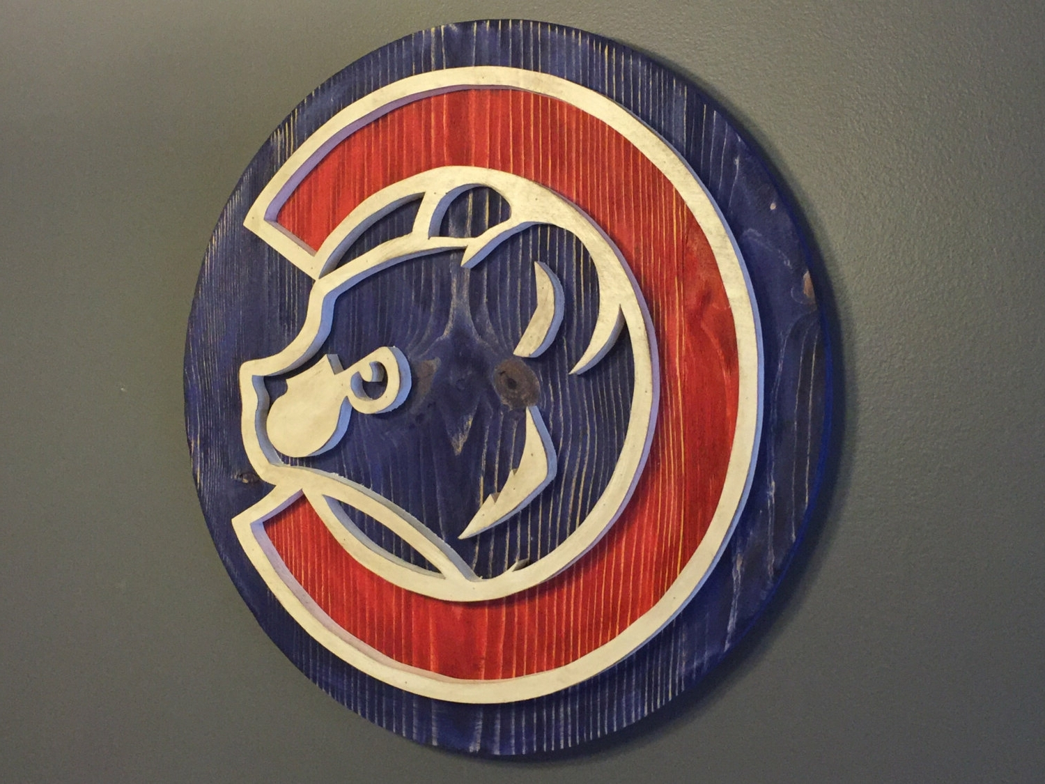 Best And Newest Custom Chicago Cubs Hand Scrolled Wood Logo 3D Wall Art With Regard To Baseball 3D Wall Art (View 4 of 15)