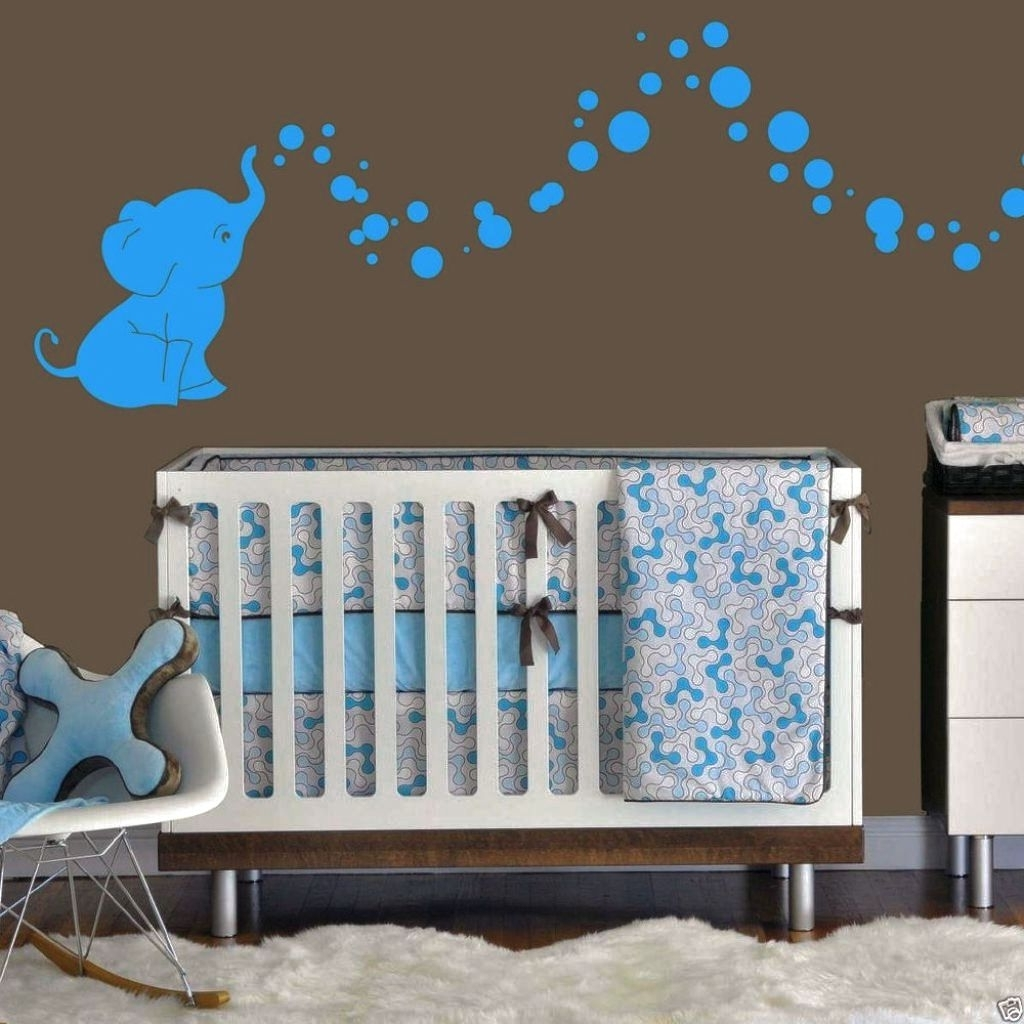 Best And Newest Elephant Nursery Decor In Stunning Custom Nursery Decor Wall Art Inside Baby Nursery 3D Wall Art (View 10 of 15)