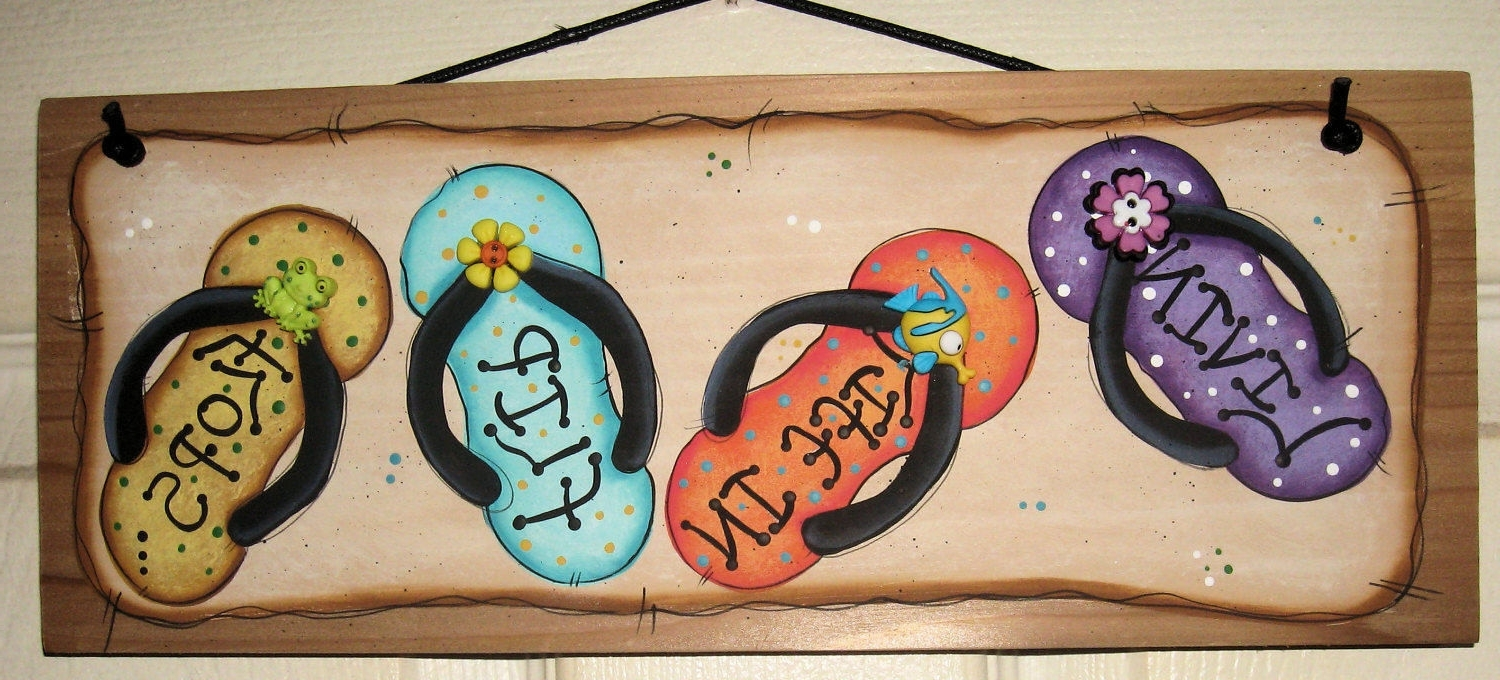 Best And Newest Flip Flop Wall Decor For Flip Flop Wall Art (View 4 of 15)