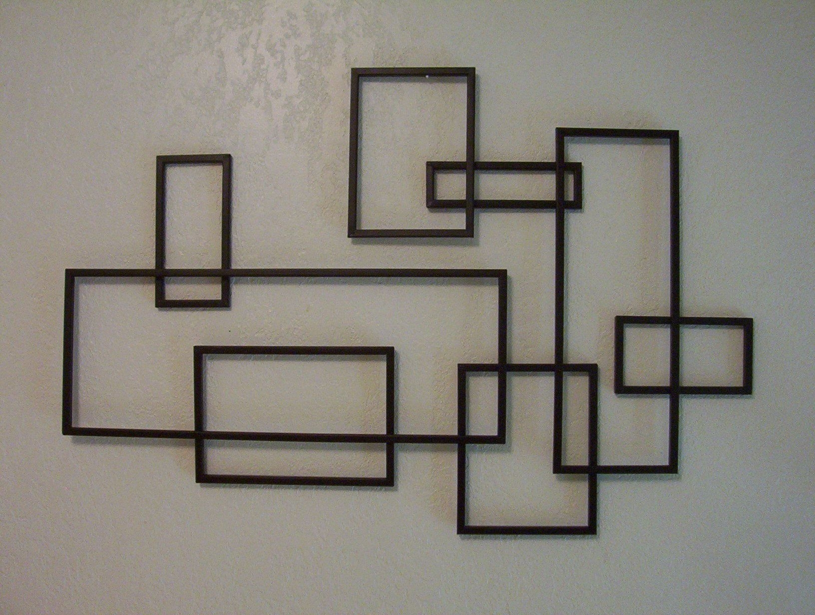Best And Newest Geometric Modern Metal Abstract Wall Art Inside Mid Century Modern ~ De Stijl Style Geometric Metal Wall Sculpture (View 2 of 15)