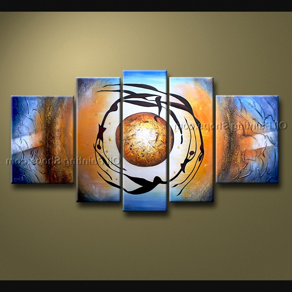 Best And Newest Large Modern Wall Art For Artcrafts Large Modern Abstract Painting Wall Art Gallery Wrapped (View 2 of 15)