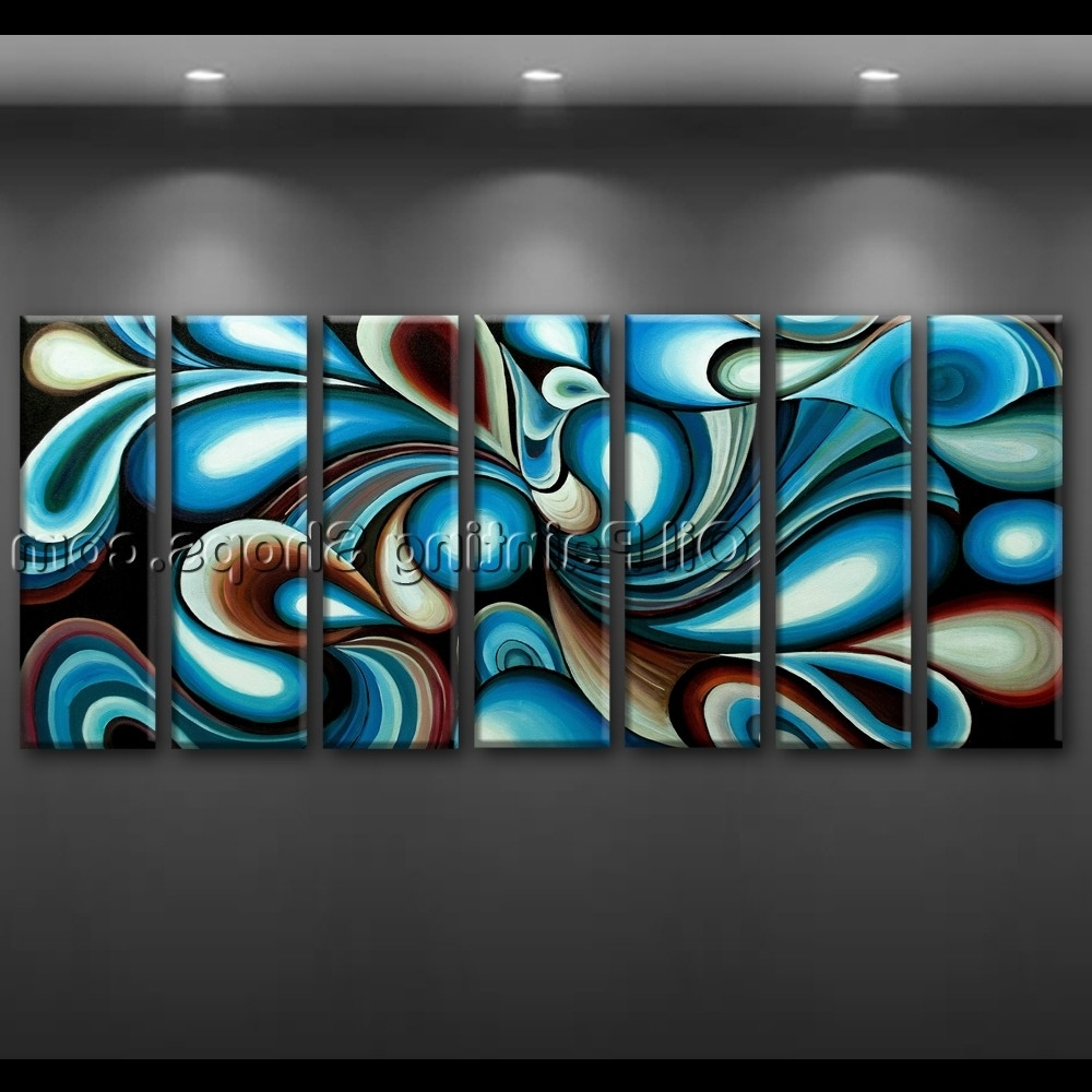 Best And Newest Large Wall Art Colorful Abstract Oil Painting On Canvas Modern Framed Pertaining To Large Abstract Canvas Wall Art (View 6 of 15)