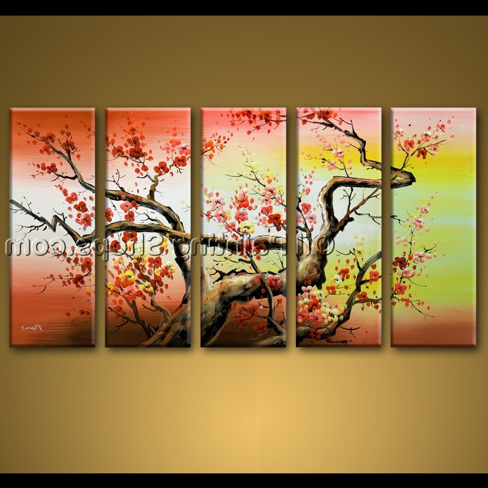 Best And Newest Large Wall Art Hand Painted Abstract Floral Oil Painting Canvas Throughout Abstract Floral Wall Art (View 5 of 15)