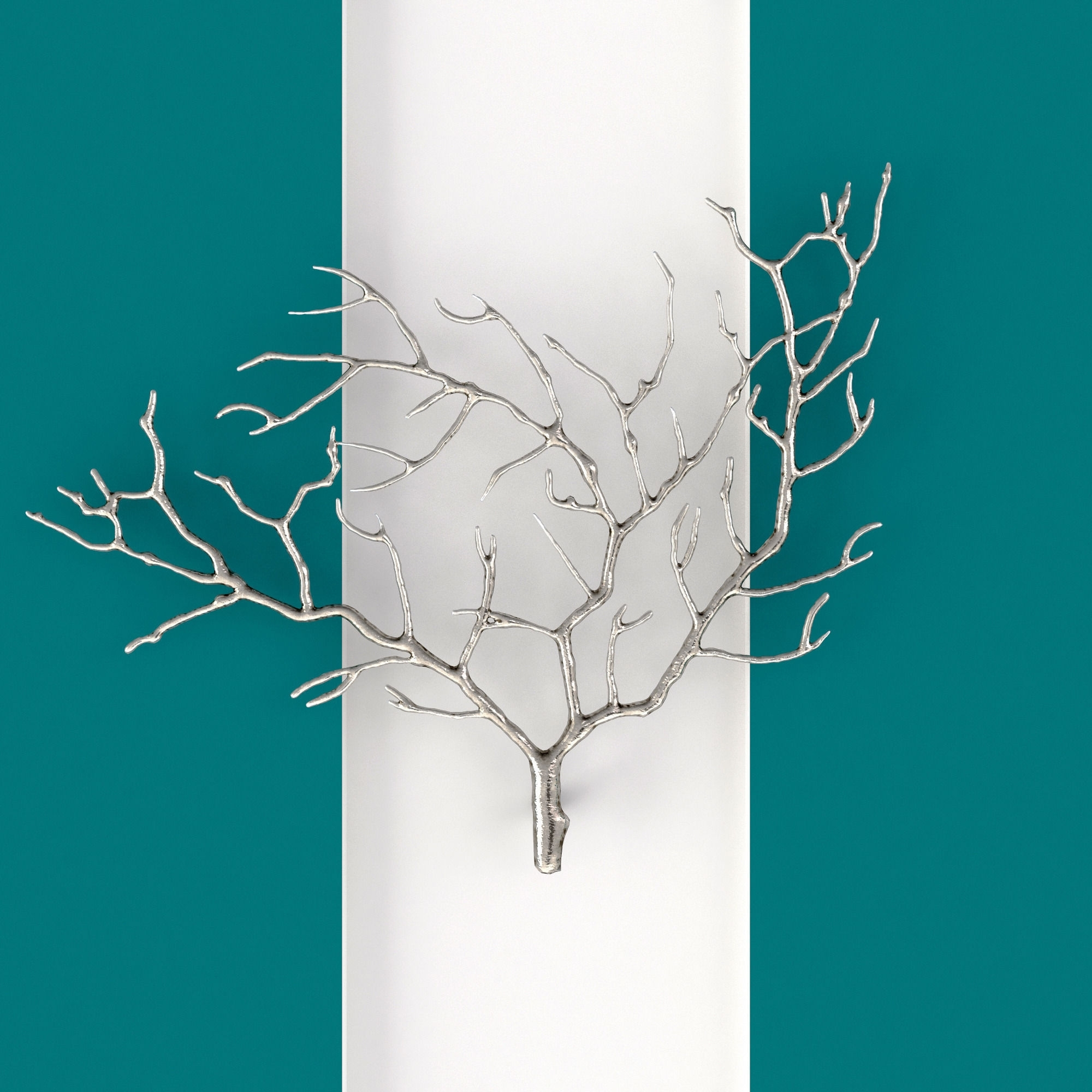 Best And Newest Metal Wall Art Trees And Branches Pertaining To Metal Tree Branch Wall Sculpture 3D (View 14 of 15)
