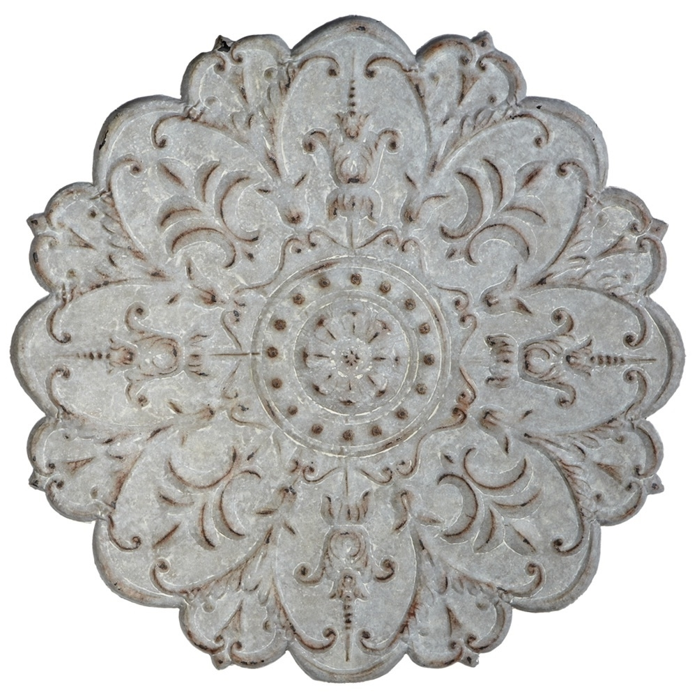 Well-liked 15 Best Collection of White Medallion Wall Art KF47