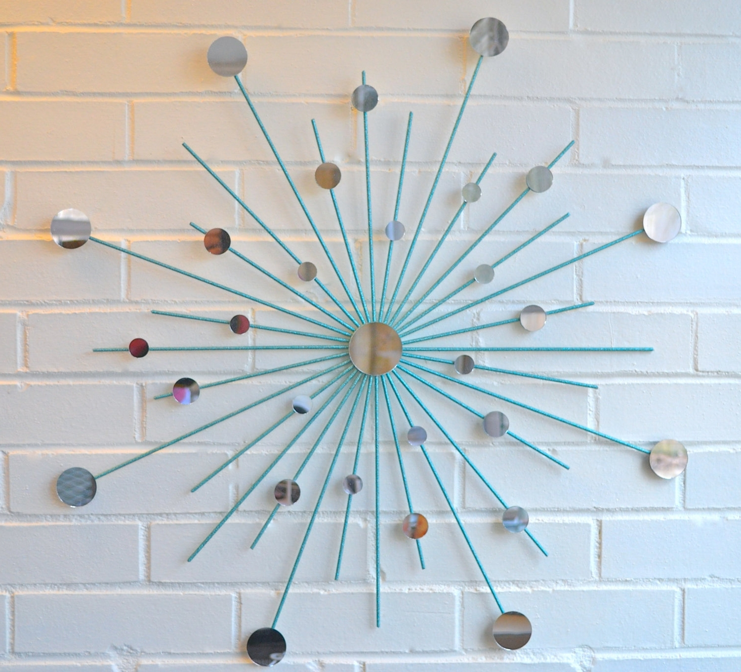 Best And Newest Modern Metal Wall Art Mirror Mod Style Star Starburst Sun Sunburst Pertaining To Turquoise Metal Wall Art (View 2 of 15)