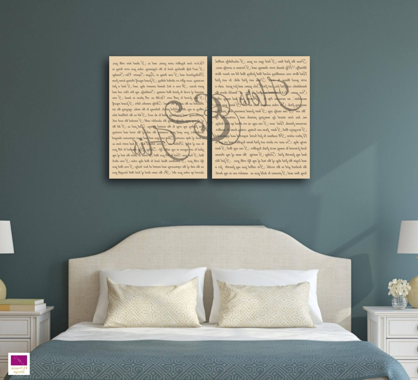 Best And Newest Mr And Mrs Wall Art In Mr And Mrs Wedding Vow Canvas Art Set Of 2, Perfect Anniversary (View 15 of 15)