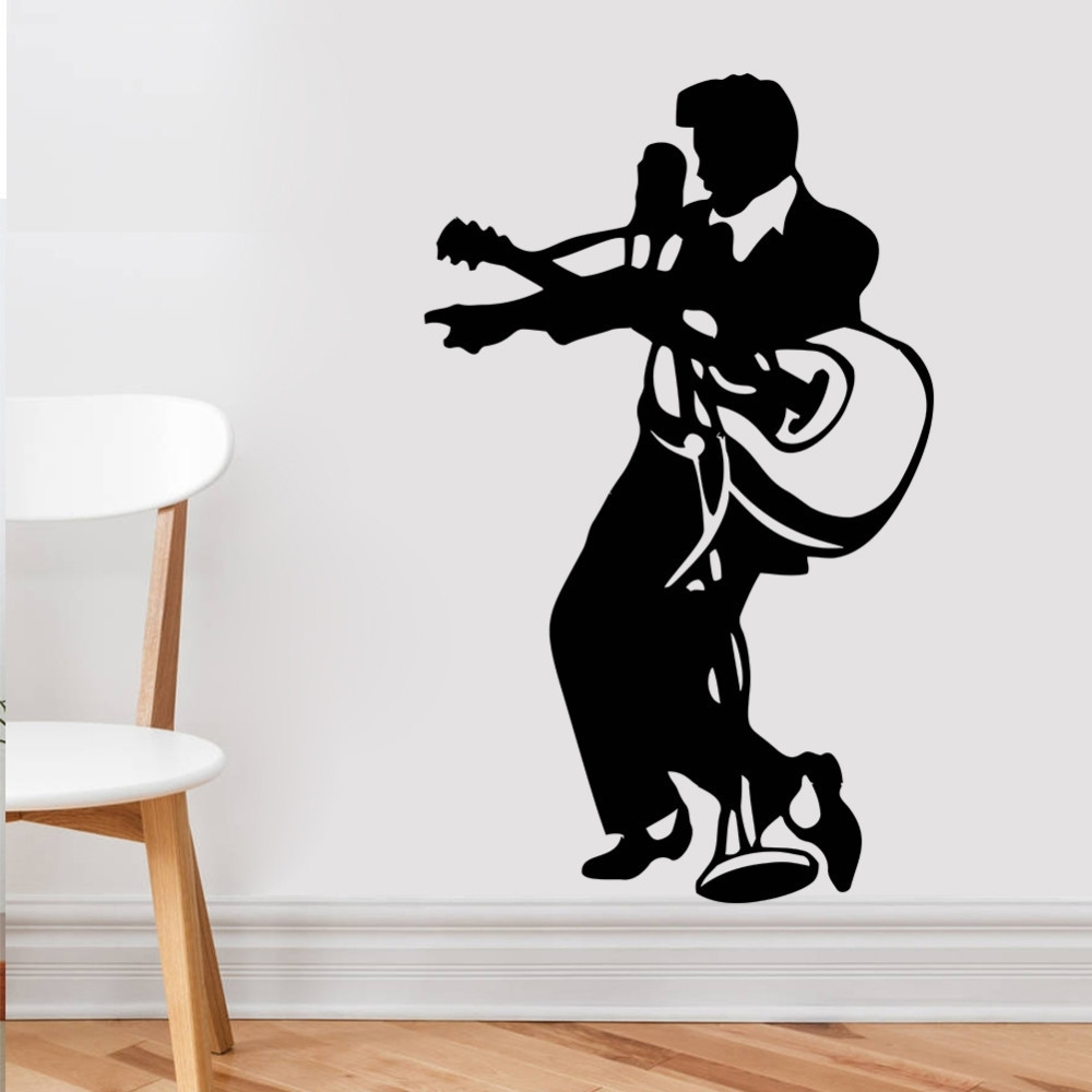 Best And Newest Music Themed Wall Art Inside Wall Art Designs: Guitar Wall Art Guitar Rock Music Elvis Presley (View 4 of 15)