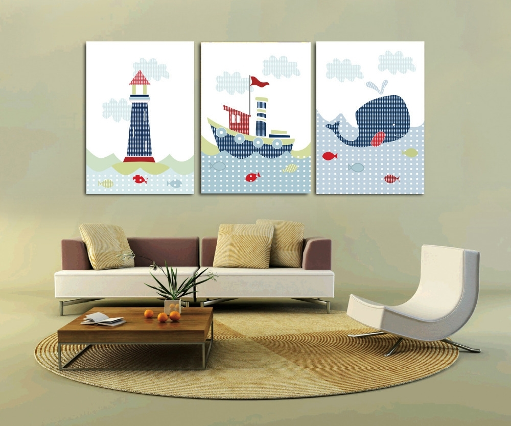 Best And Newest Nautical Canvas Wall Art Intended For Living Room (View 1 of 15)