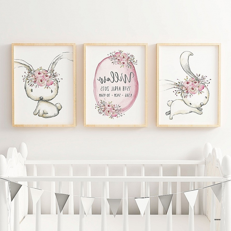Best And Newest Peter Rabbit Nursery Wall Art Inspirational Baby Girls Woodland Intended For Peter Rabbit Wall Art (View 3 of 15)
