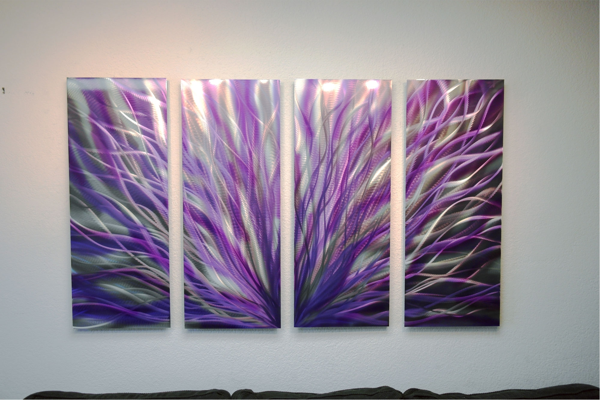 Best And Newest Purple Abstract Wall Art Regarding Radiance Purple 36x63 – Abstract Metal Wall Art Contemporary (View 2 of 15)