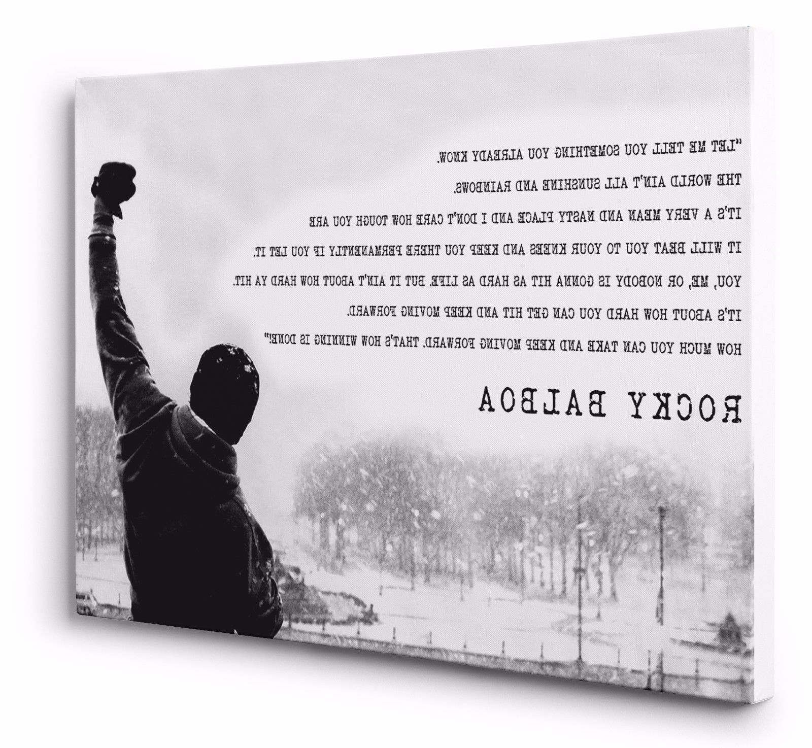 Best And Newest Rocky Balboa Canvas Wall Art Print Movie Motivation Quote 20x30 With Rocky Balboa Wall Art (View 2 of 15)