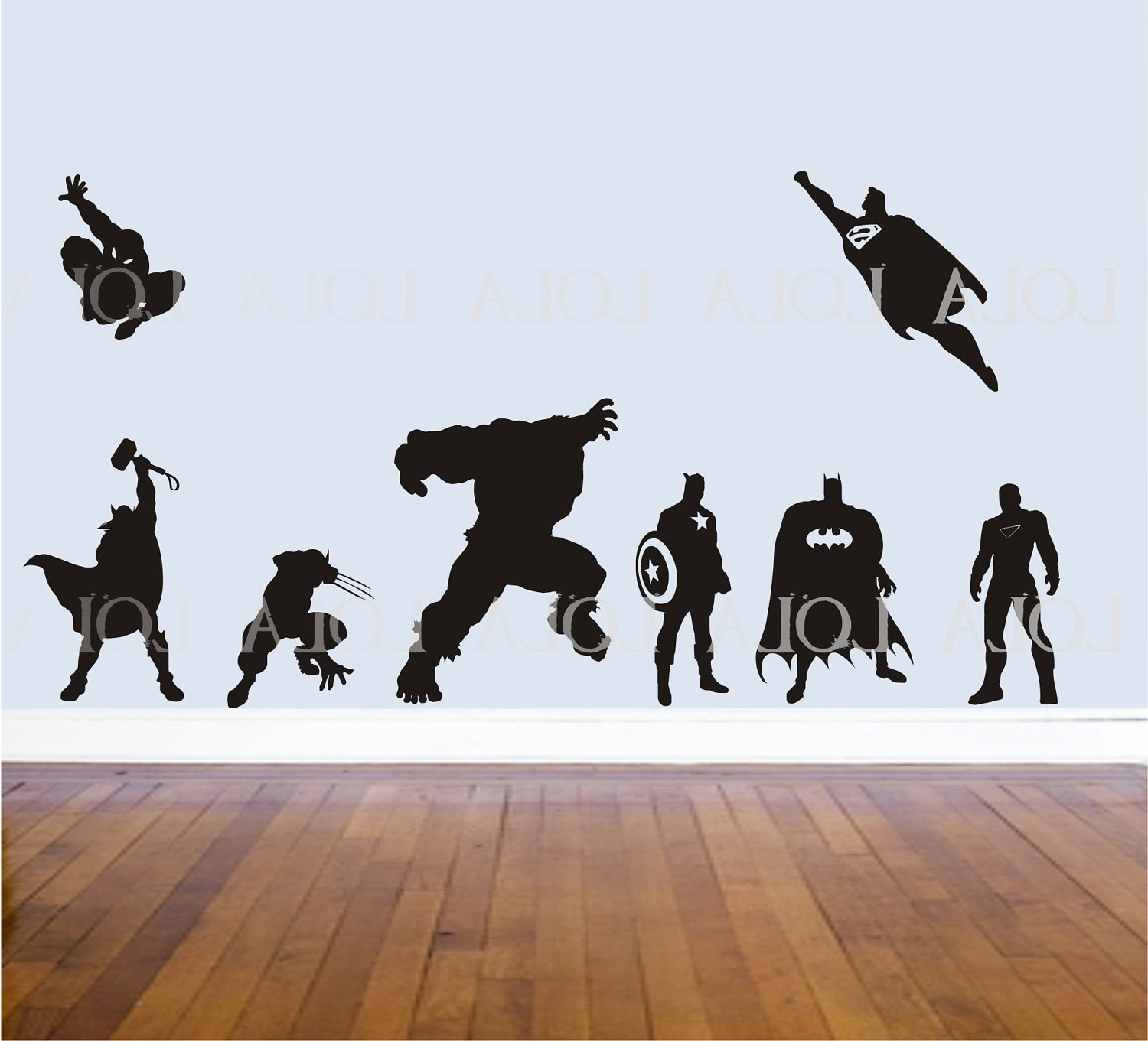 Best And Newest Super Hero: Super Hero Wall Decals Throughout Superhero Wall Art Stickers (View 2 of 15)