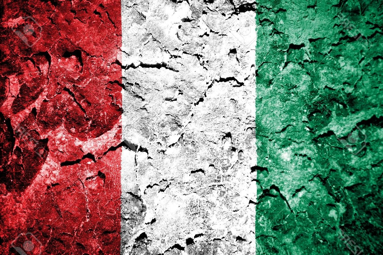 Best And Newest The Italian Flag Painted On Grunge Wall Stock Photo, Picture And Inside Italian Flag Wall Art (View 1 of 15)