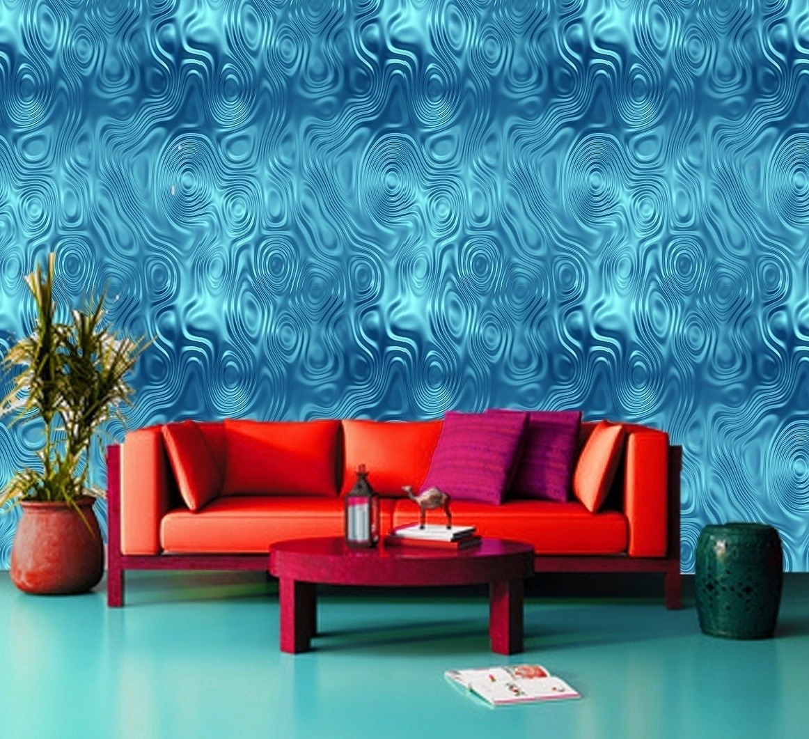 Best And Newest Tropical Water Climax, Sea, Ocean Blue 3D Wallpaper Wall Mural Pertaining To 3D Wall Art Wallpaper (View 8 of 15)