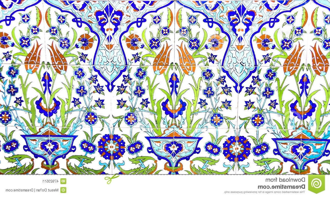 Best And Newest Turkish Wall Art Intended For Izmir, Turkey – July 31 : Turkish Artistic Wall Tile At The Fatih (View 5 of 15)