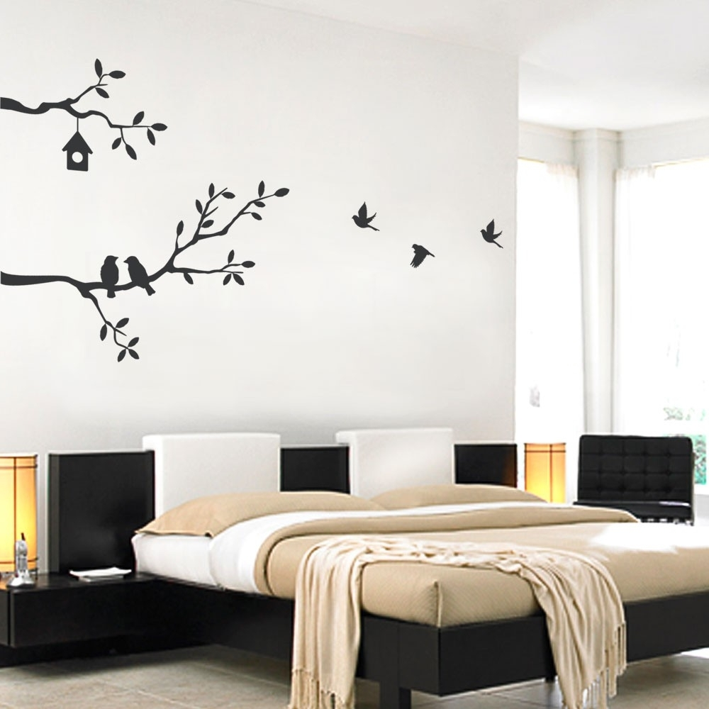 Best And Newest Vinyl Wall Art Tree Inside Birds And Branches Decal (View 3 of 15)