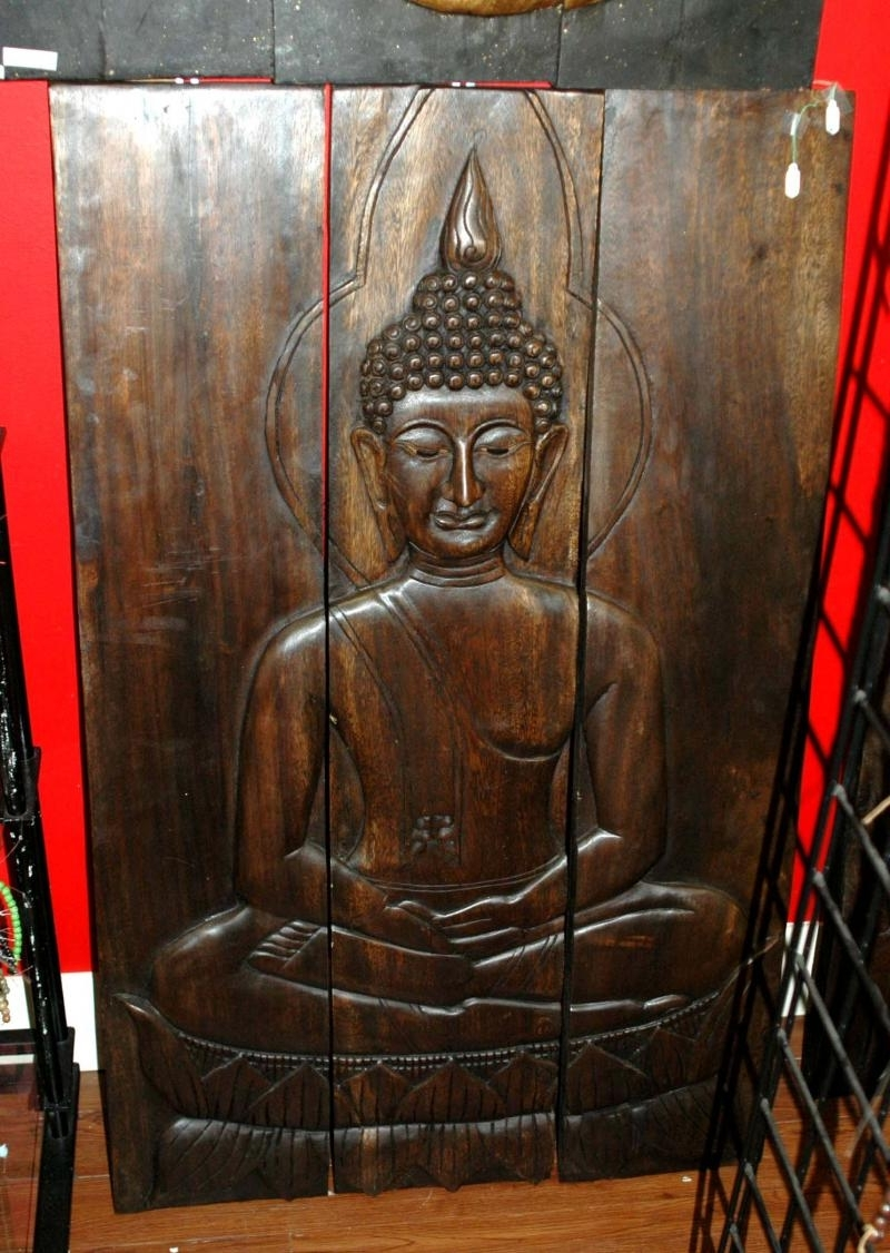 Best And Newest Wall Art Designs: Best Buddha Wood Wall Art Buddha Wall Plaque Regarding Outdoor Buddha Wall Art (View 2 of 15)