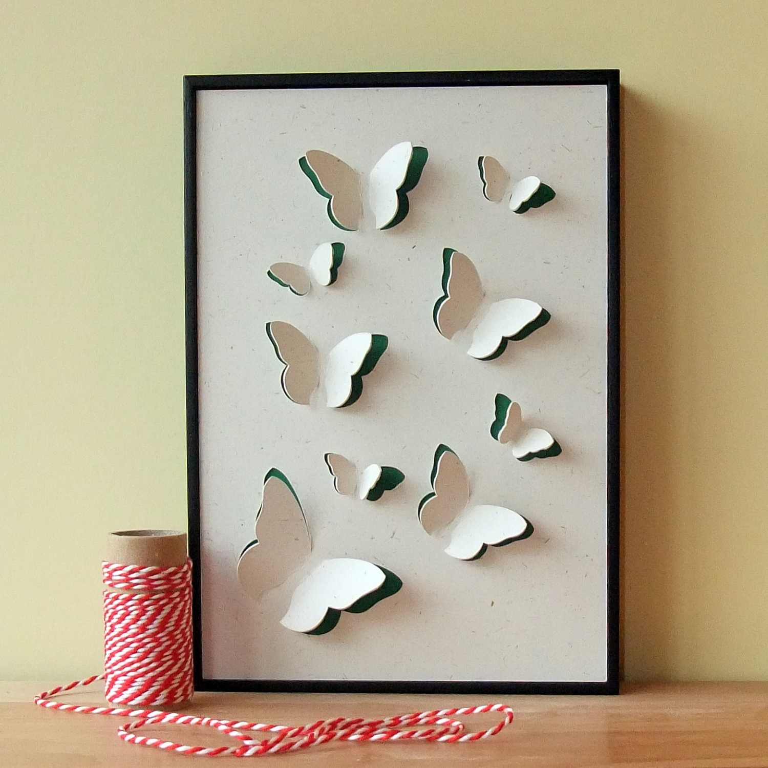 Best And Newest Wall Art Ideas Design : Butterefly Animals 3D Paper Wall Art Within Diy 3D Wall Art Butterflies (View 3 of 15)
