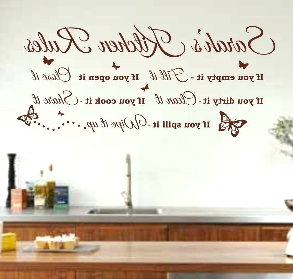 Best And Newest Wall Arts ~ My Kitchen Rules Wall Art Kitchen Rules Wall Art Uk Throughout Italian Phrases Wall Art (View 1 of 15)