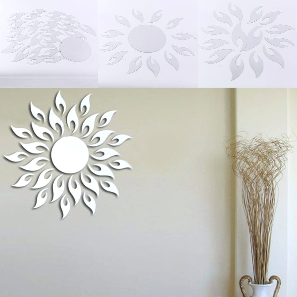 Best And Newest Wall Mirrors ~ Sun Ray Wall Mirror Sun Shape Acrylic Mirror Wall Pertaining To Kohls Wall Decals (View 8 of 15)