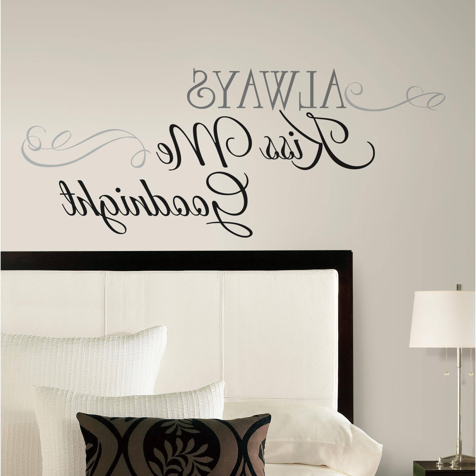 Best And Newest Walmart Wall Stickers Within Always Kiss Me Goodnight Peel  U0026 Stick Wall Decals