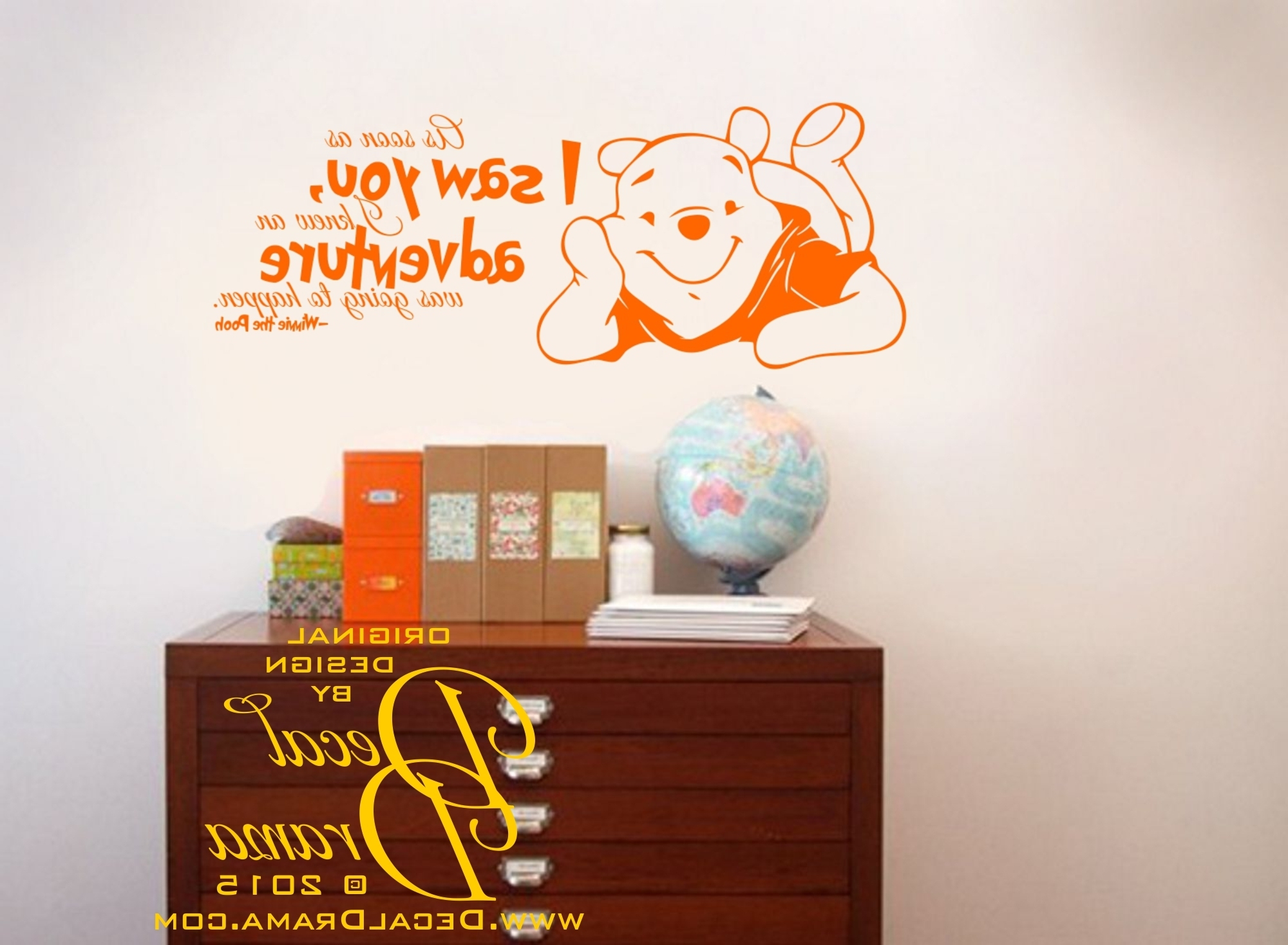 Best And Newest Winnie The Pooh Vinyl Wall Art In Decal Drama · I Knew An Adventure Was Going To Happen, Winnie Pooh (View 2 of 15)