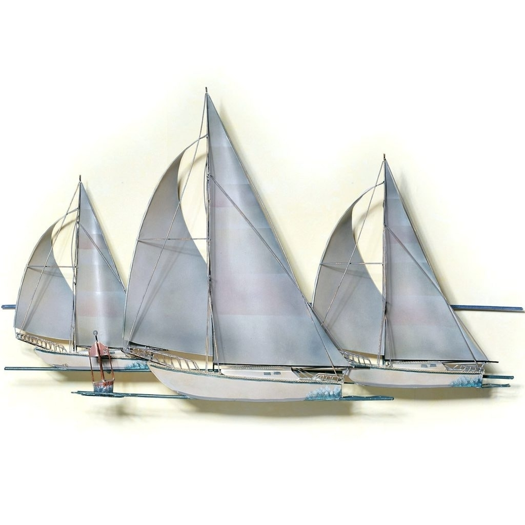 Best And Newest Wood Sailboat Wall Art Cozy Metal Sailing Boats Simple Diy Design In Boat Wall Art (View 4 of 15)