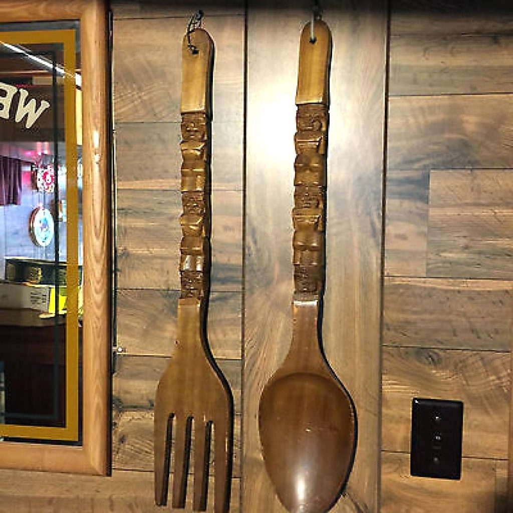 Best And Newest Wooden Fork And Spoon Wall Art In Wall Arts ~ Large Knife Fork And Spoon Wall Art Giant Knife Fork (View 3 of 15)