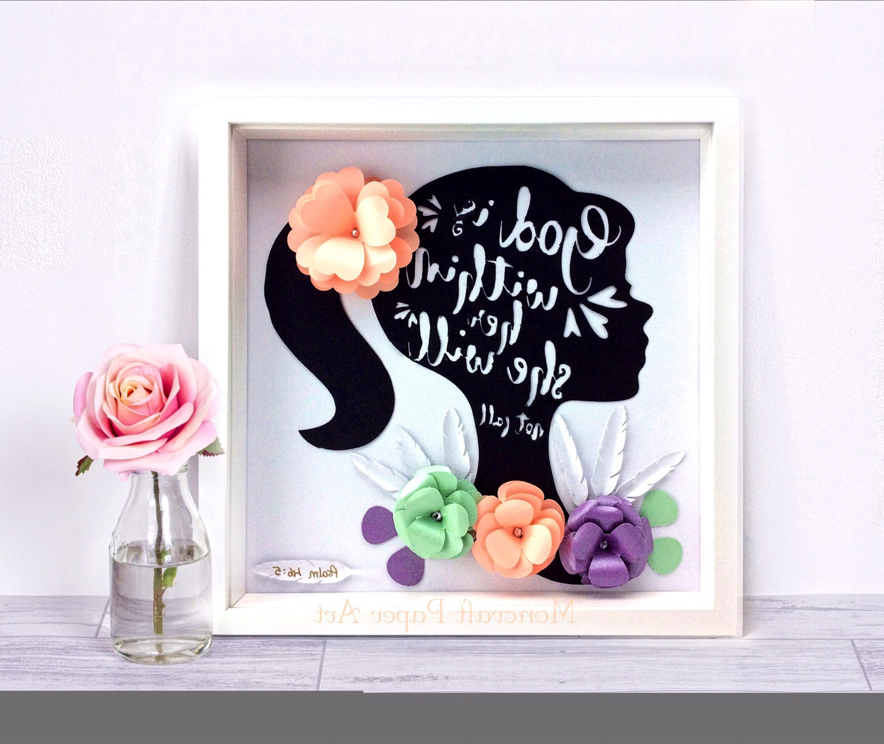 Bible Verses Framed Art In Most Recently Released Silhouette Inspirational Artwork , Silhouette Paper Art, Bible (View 2 of 15)