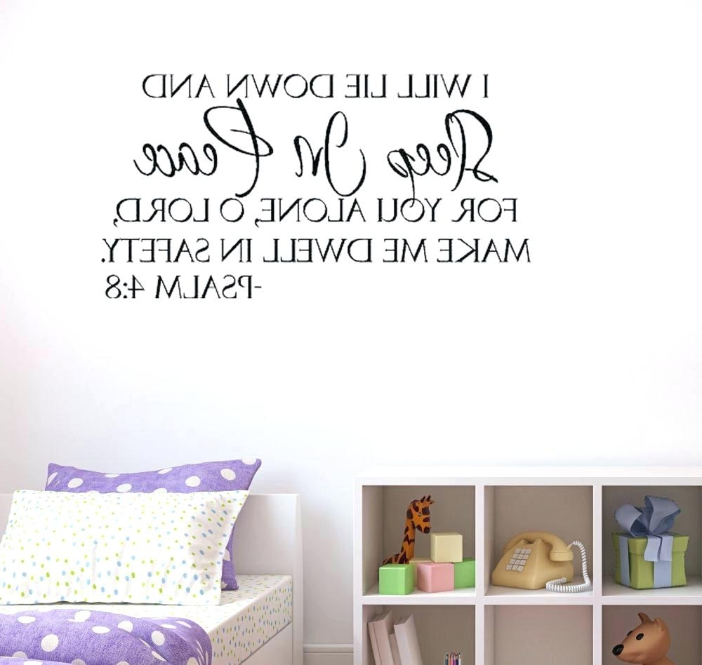 Bible Verses Wall Art With Regard To Newest Bible Quotes Wall Decals Wall Art Ideas Design Sleep In Peace Wall (View 2 of 15)