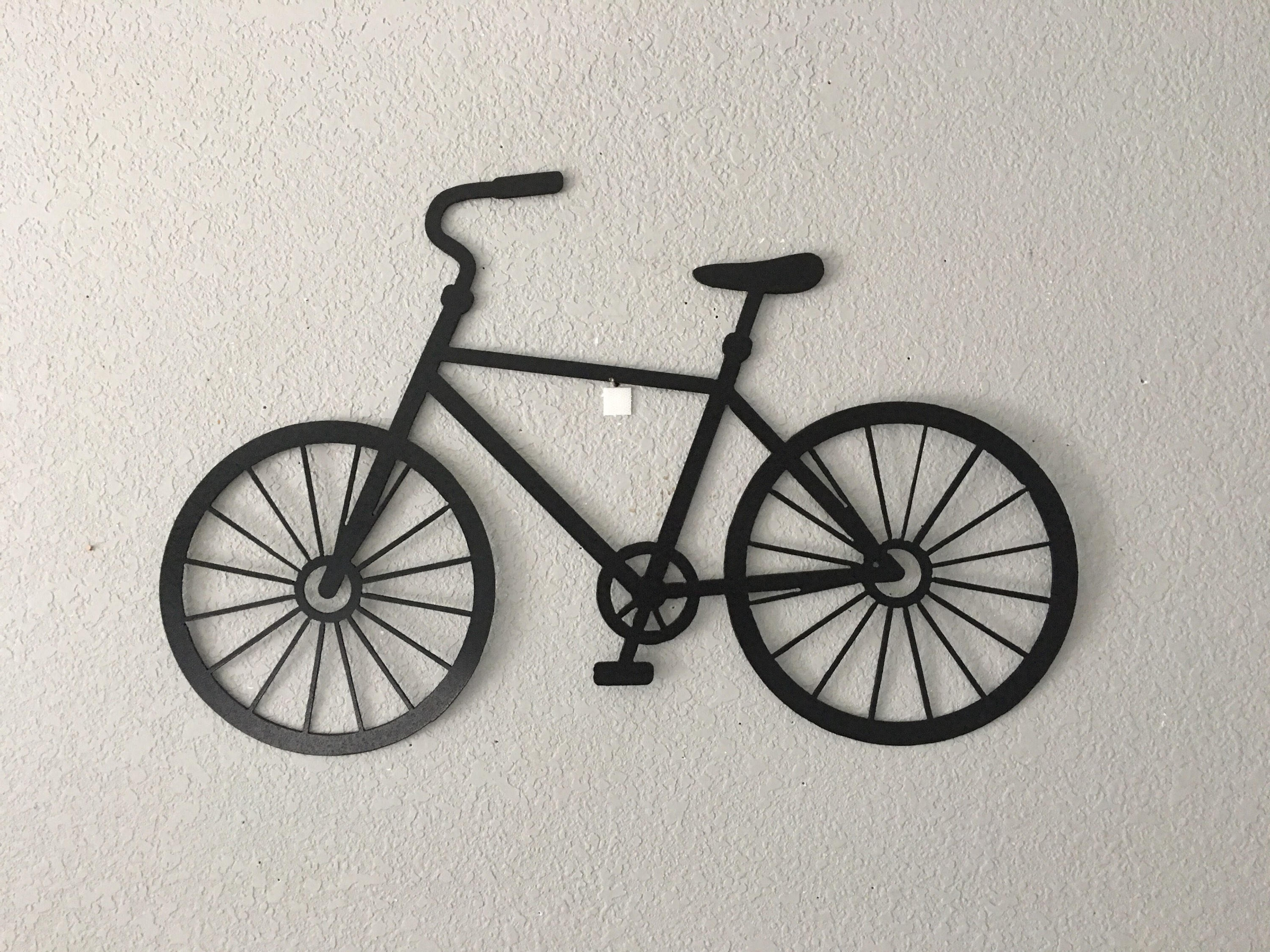 Bicycle – Bike – Wall Hanging Art – Metal Bicycles Inside Newest Metal Bicycle Wall Art (View 1 of 15)