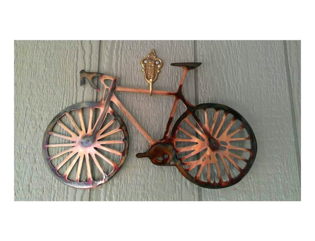 Bicycle Wall Art Decor With Most Popular Wall Arts ~ Bicycle Wall Art Decor Metal Road Bike Wall Art Wall (View 7 of 15)