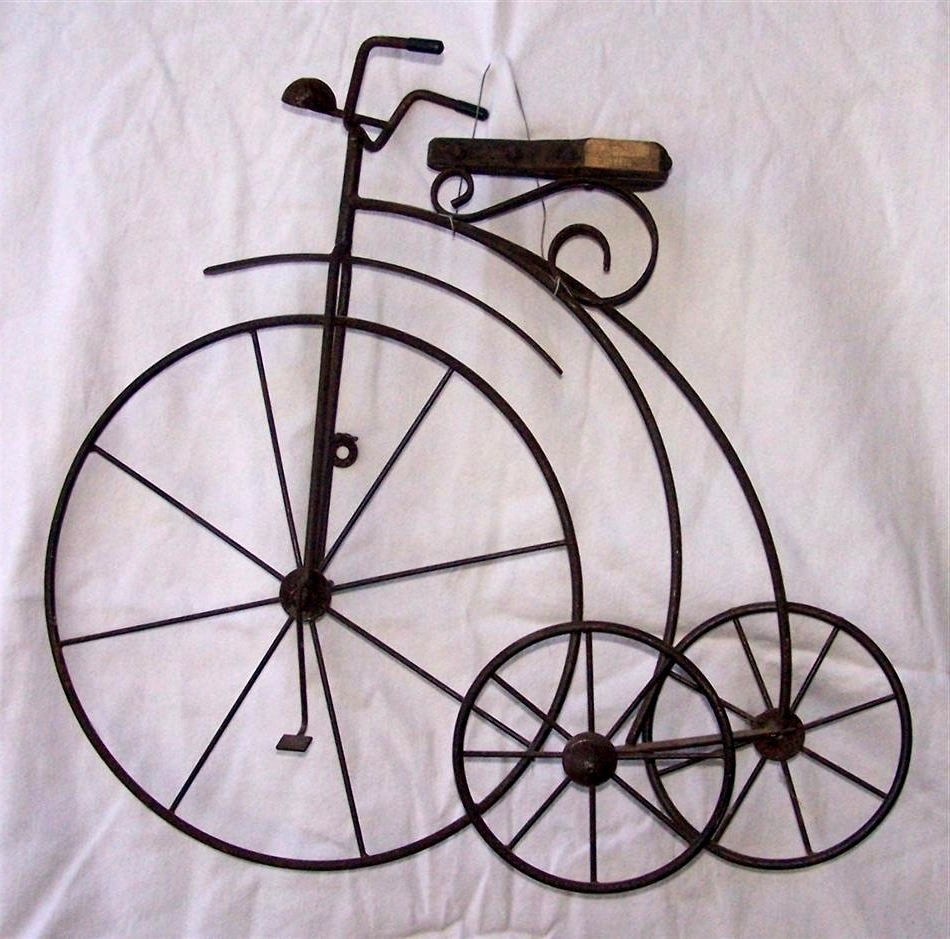 Bicycle Wall Decor Beautiful Antique Metal High Wheel Bicycle Inside Favorite Metal Bicycle Art (View 5 of 15)
