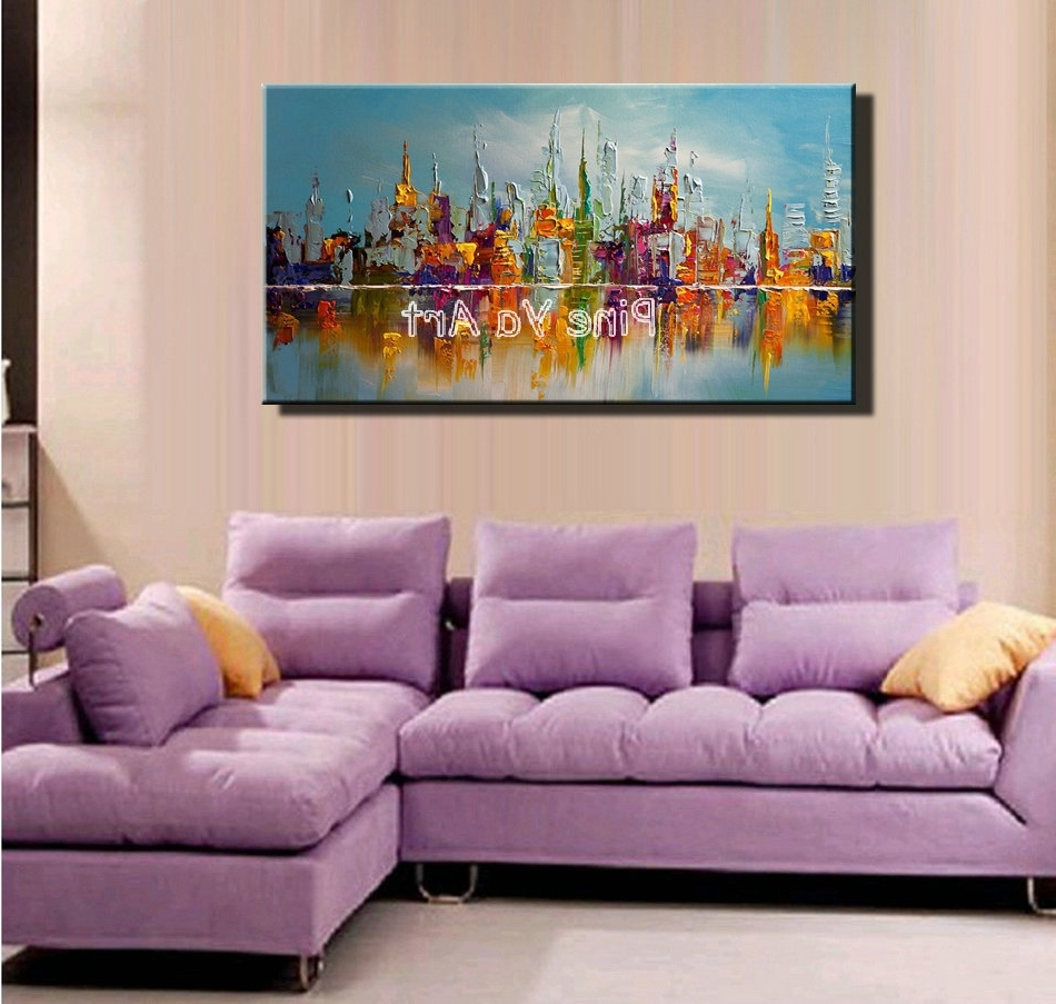 Big Abstract Wall Art In Popular Large Abstract Modern Canvas Wall Art Big Handmade Decorative New (View 2 of 15)