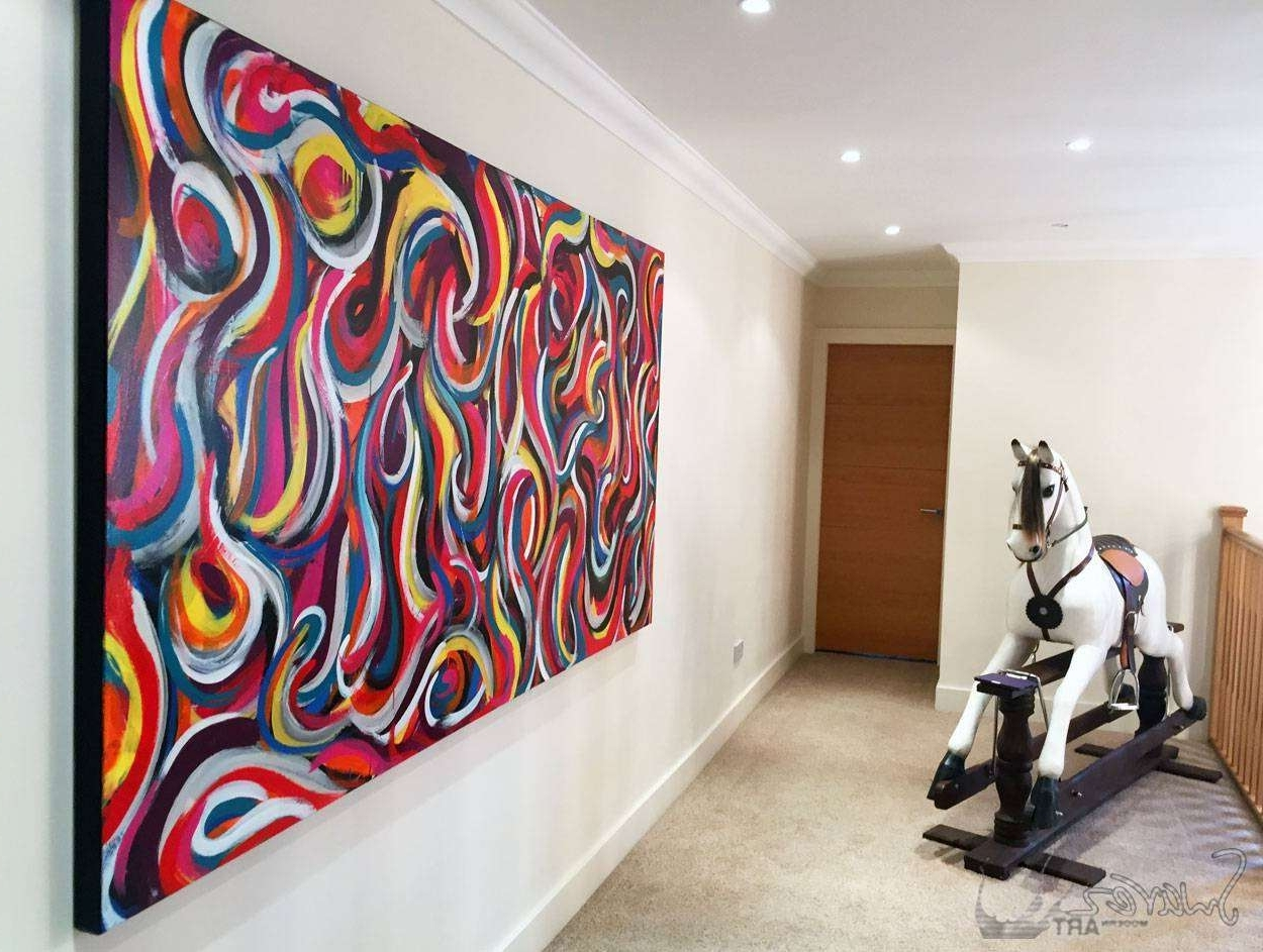 Big Abstract Wall Art Within Most Popular Large Abstract Art For Sale And Big Modern Art Paintingsswarez (View 5 of 15)