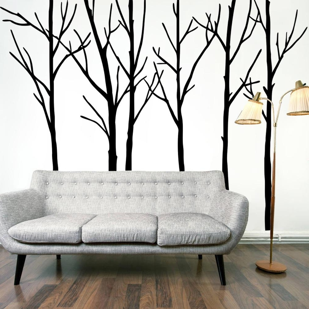 Big Cheap Wall Art Pertaining To Latest Extra Large Black Tree Branches Wall Art Mural Decor Sticker (View 14 of 15)