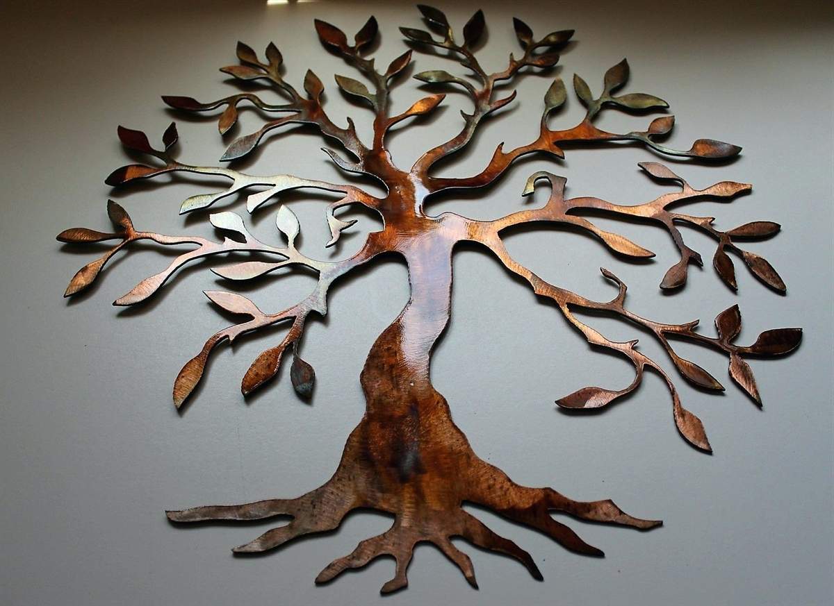 Big Metal Wall Art With Regard To Trendy Wall Arts ~ Tree Of Life Metal Wall Art Hanging Indoor Outdoor (View 6 of 15)