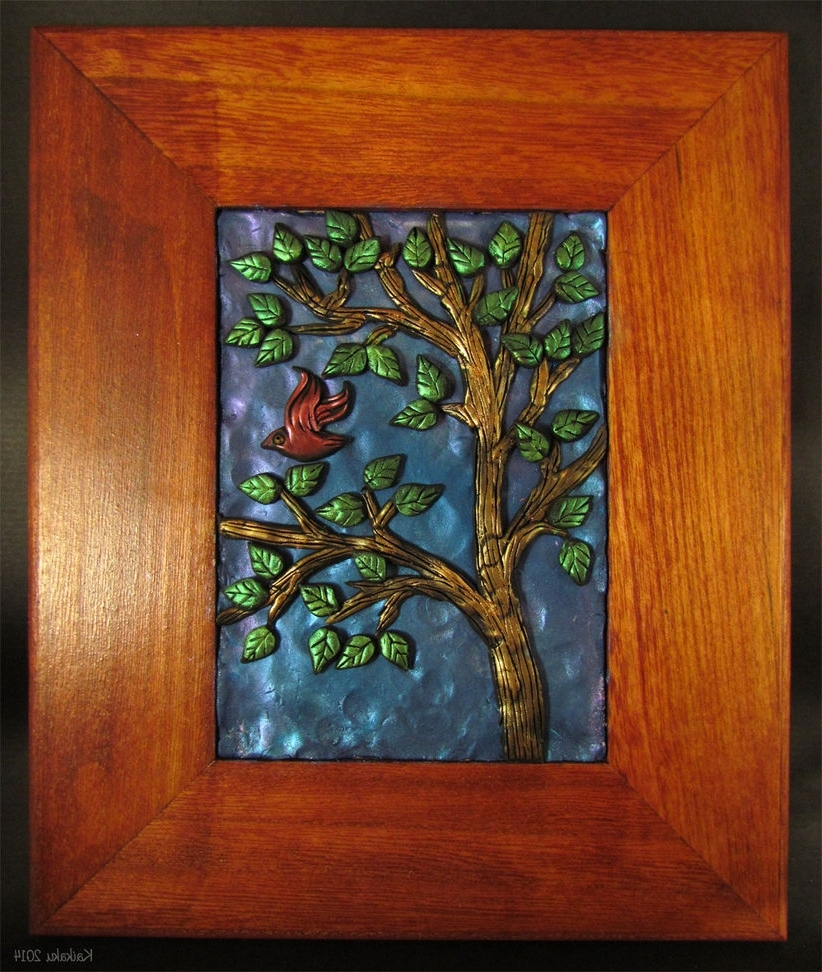 Bird In The Tree — Polymer Clay Wall Artkaikaku On Deviantart Throughout Popular Polymer Clay Wall Art (View 2 of 15)