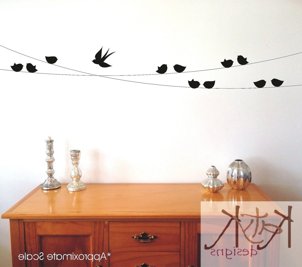 Birds On A Wire Wall Art In Most Popular Wall Arts ~ Colorful Birds On A Wire Wall Art Birds On A Wire (View 1 of 15)