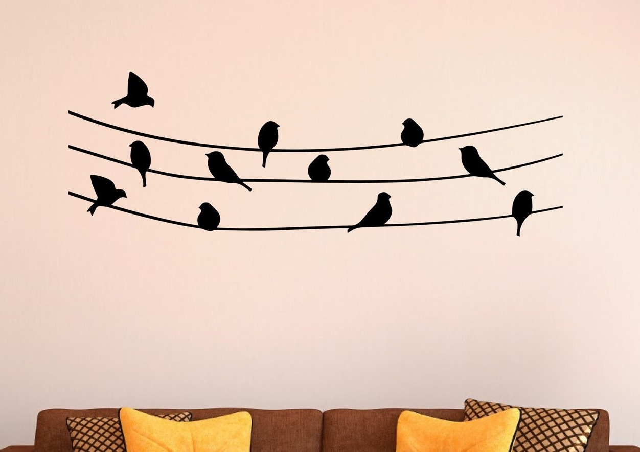 Featured Photo of Birds On A Wire Wall Art