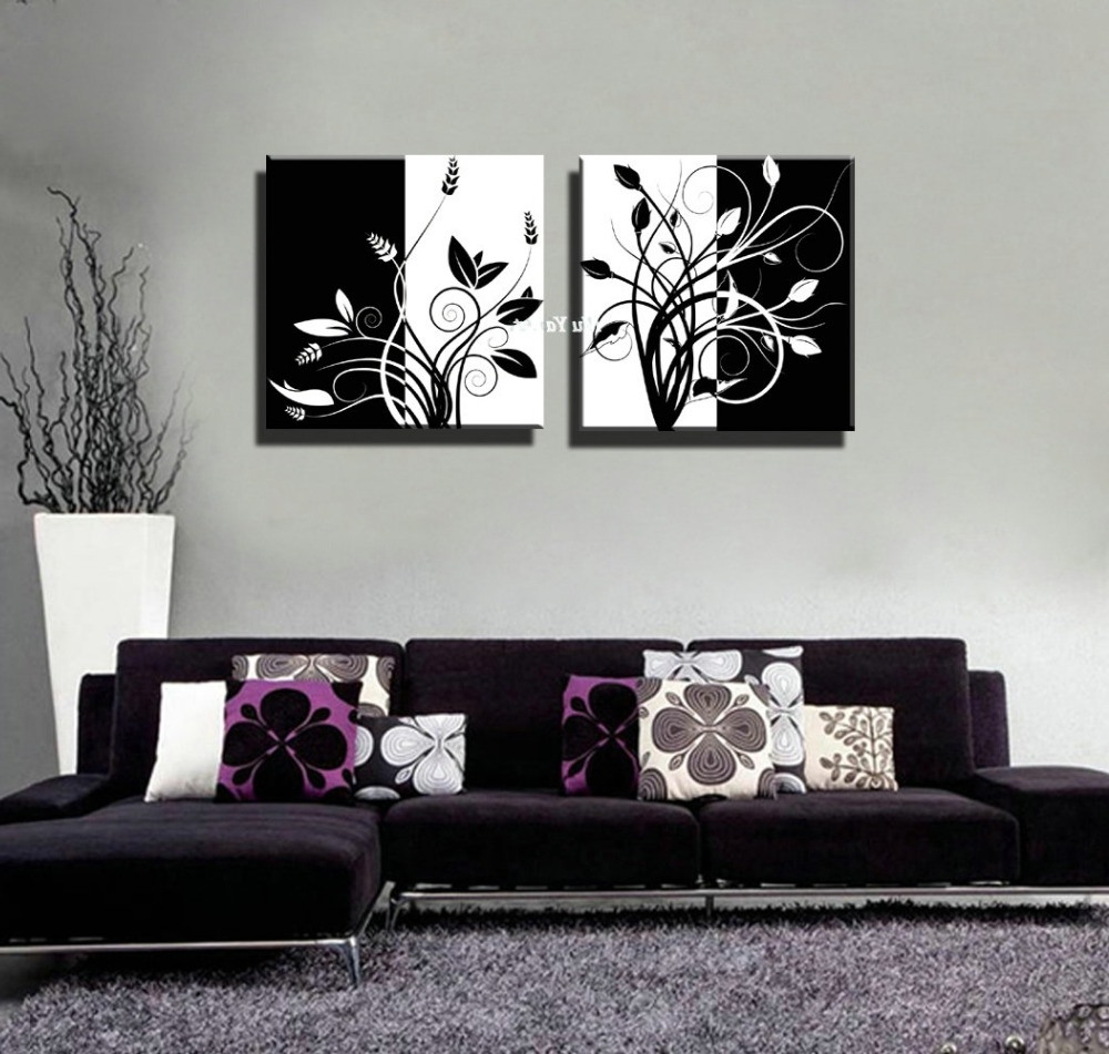 Black And White Abstract Wall Art For Most Up To Date Black Wall Art Stickers Black Wall Art Canvas Black Metal Wall Art (View 14 of 15)